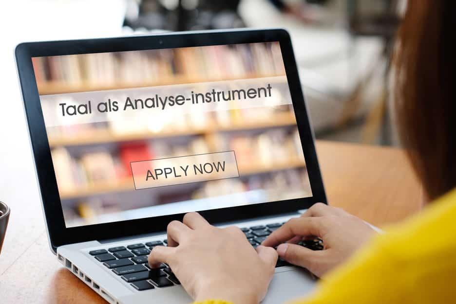 Bijscholing Taal als analyse-instrument